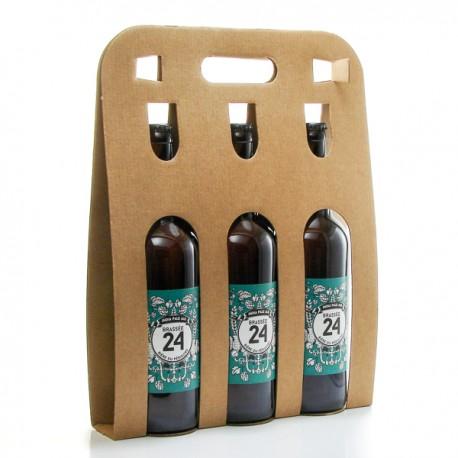 Pack de 3 bières Brassée 24 Indian Pale Ale de la Brasserie artisanale de Sarlat 3x75cl