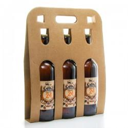 Pack de 3 bières Brassée 24 blondes de la Brasserie artisanale de Sarlat 3x75cl