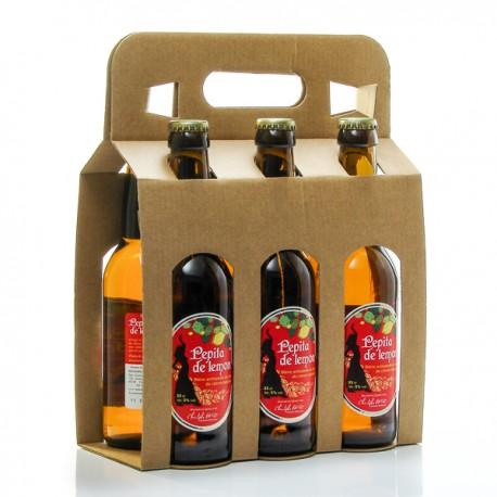 Pack de 6 bières Pépita de Lemon artisanales du Quercy Brasserie Ratz 6 x 33cl soit 198cl