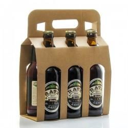 Pack de 6 bières brunes artisanales du Quercy Brasserie Ratz 6 x 33cl soit 198cl