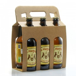 Pack de 6 bières blondes artisanales du Périgord Brasserie Margoutie 33cl x 6 soit 198cl