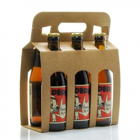 Pack de 6 bières Pale Ale artisanales du Périgord Brasserie Lapépie 33cl x 6 soit 198cl