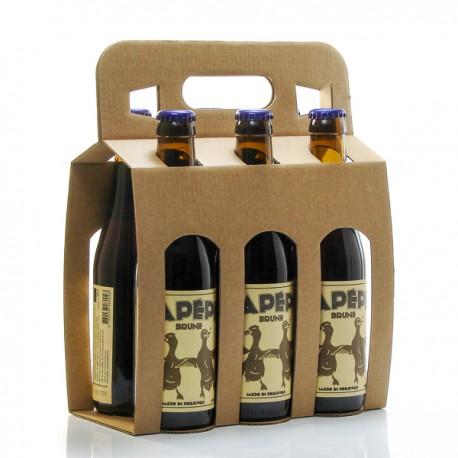 Pack de 6 bières brunes artisanales du Périgord Brasserie Lapépie 33cl x 6 soit 198cl