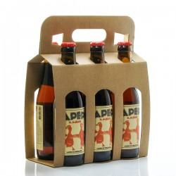Pack de 6 bières ambrées artisanales du Périgord Brasserie Lapépie 33cl x 6 soit 198cl
