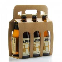 Pack de 6 bières blondes artisanales du Périgord Brasserie Lapépie 33cl x 6 soit 198cl