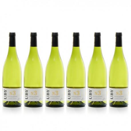 6 bouteilles de Domaine UBY Colombard-Ugni Blanc n°3 2016