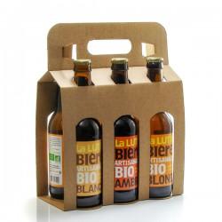 Pack de 6 bières artisanales du Périgord Brasserie la Lutine 6x33cl soit 198cl
