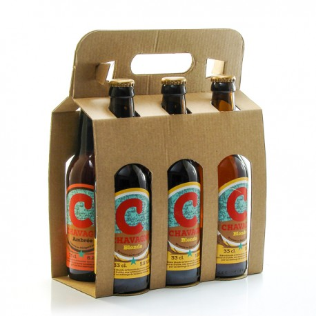 Pack de 6 bières artisanales du Périgord Brasserie La Chavagn 33cl x 6 soit 198cl