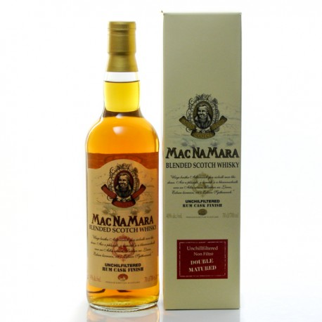 Whisky Ecosse Macnamara Unchilfiltered Rum Cask Finish Blended Scotch 40° 70cl