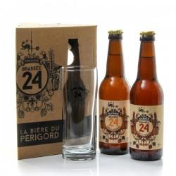 Coffret de 2 bières + 1 verre Brasserie Artisanale de Sarlat 2x33cl