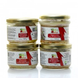 Assortiment de terrines et rillettes 5/6 parts soit 740g