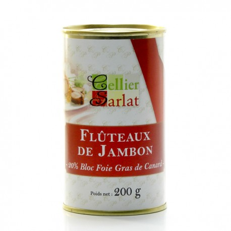 Flûteaux de Jambon au Foie gras 200g