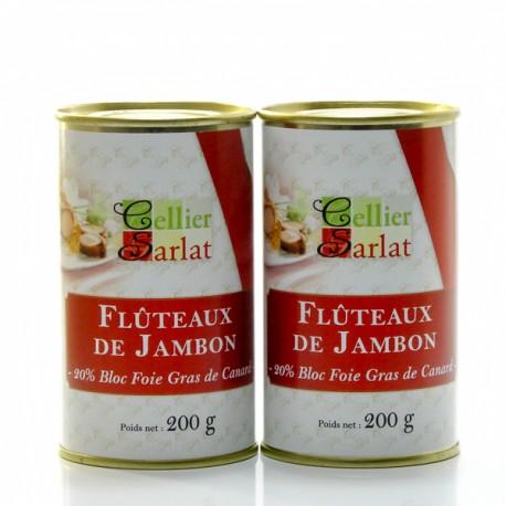 Lot de 2 boites de Flûteaux de Jambon au Foie de Canard 2x200g