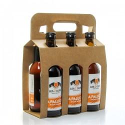 Pack de 6 bières ambrées artisanales de la Brasserie des 2 Ours - 6 x 33cl