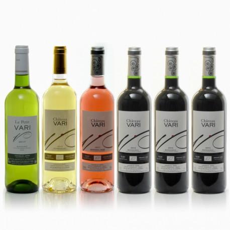 Assortiment de 6 bouteilles du Château Vari