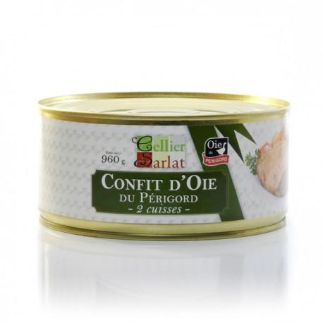Confit d'oie du Périgord - 2 cuisses - 960g
