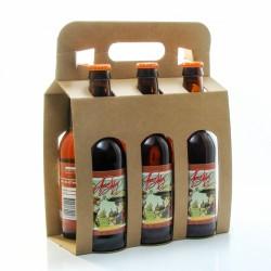 Pack de 6 bières Amber Ale artisanales de la Brasserie Roc Mol - 6 x 33cl