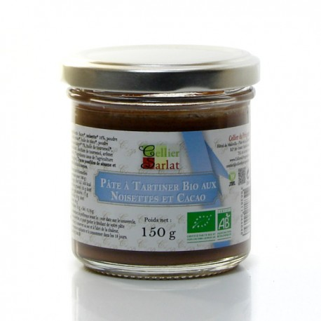 Pâte à tartiner aux noisettes et cacao bio 150g