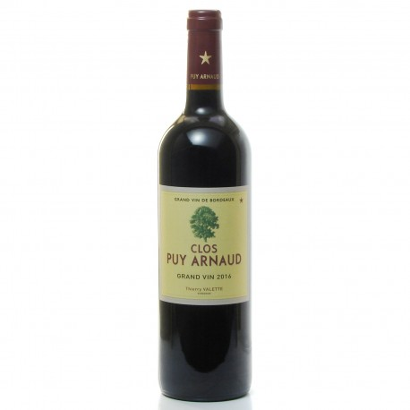 Clos Puy Arnaud AOC Castillon Côtes de Bordeaux Rouge 2016 75cl