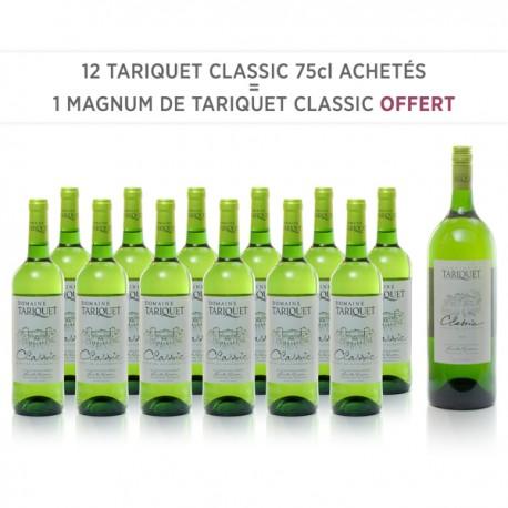 12 Domaine Tariquet Classic IGP Côtes de Gascogne 2018 75cl + 1 Magnum Classic 2017