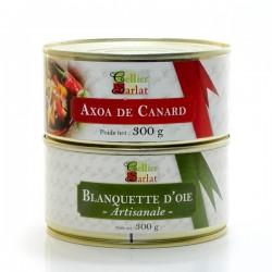 Lot de Blanquette d'Oie Artisanale 300g et Axoa de Canard 300g