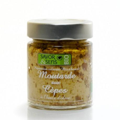 Moutarde Bio saveur cépes à l'huile d'olive bio, 130g
