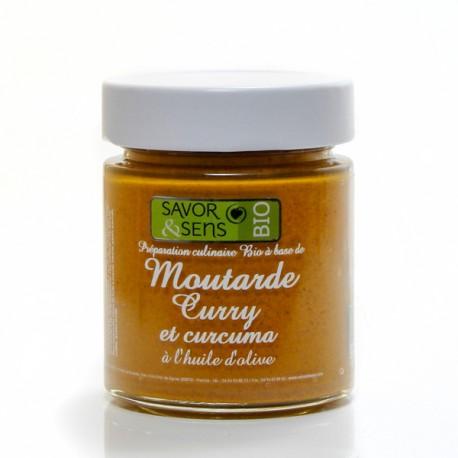 Moutarde Bio au curry et curcuma à l'huile d'olive, 130g