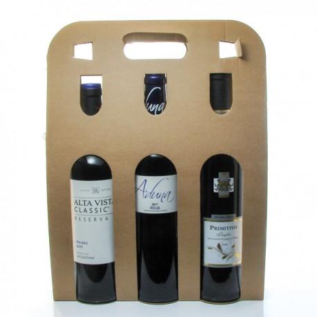 Coffret 3 bouteilles de Vin du Monde 3x75cl