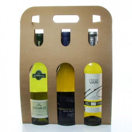 Coffret 3 Bouteilles de Vin Blanc Sec 3x75cl