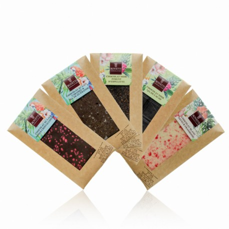 Lot de 5 tablettes de chocolat Bovetti 5 x 100g