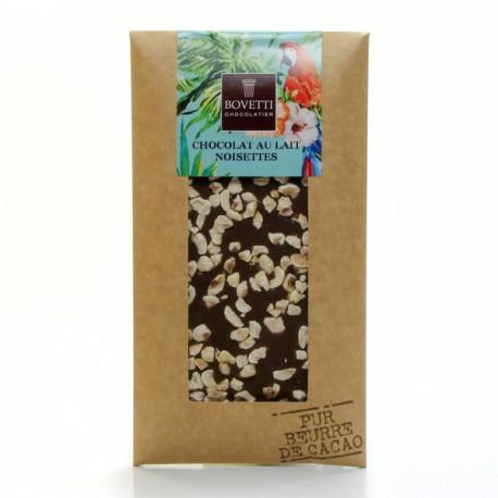 Tablette Chocolat au Lait et Noisettes Pur Beurre de Cacao, 100g