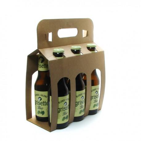Pack de 6 Bières Belgique Grisette blonde BIO et sans GLUTEN 25cl x 6