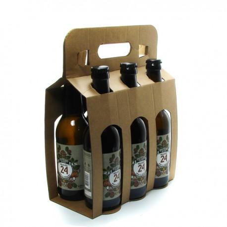 Pack de 6 Bières brassée 24 à la Liqueur de Noix Brasserie Artisanale de Sarlat 33cl x 6
