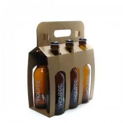 Pack de 6 bières de Belgique Houppe Blonde 6 x 33cl