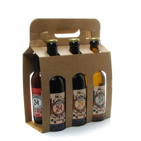 Pack de 6 bières brassée 24 mixte Brasserie artisanale de Sarlat 6x33cl