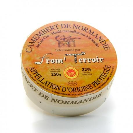 Camembert AOP 250g (Lait cru de vache-22% de MG sur pdt fini)