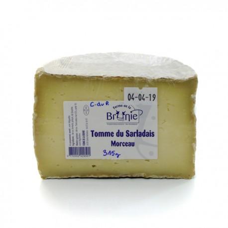 Demi tomme de vache affinée au lait cru ferme de la brunie env 310g