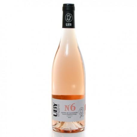 Domaine UBY Rosé N°6 IGP Côtes de Gascogne 2019 75cl