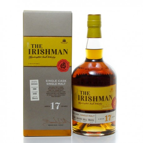 Whisky Irlande The Irishman 17 ans Single Malt 56° 70 cl