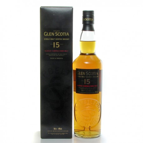 Whisky Ecosse Glen Scotia 15 ans Single Malt 46° 70 cl