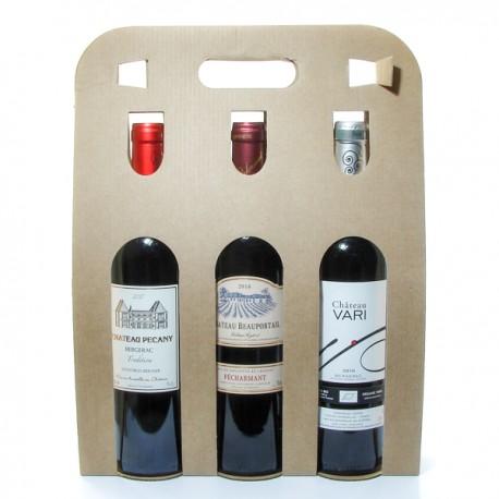 Coffret 3 Bouteilles de Vin de Bergerac Rouge 3x75cl
