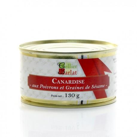 Canardise aux Poivrons et aux Graines de Sésame 20% Foie Gras 130g