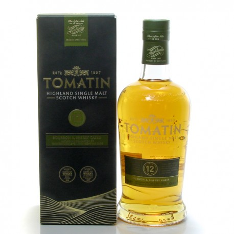 Whisky Ecosse Tomatin 12 ans Single Malt 43° 70 cl