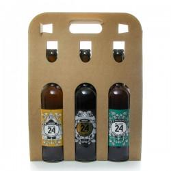 Pack de 3 bières IPA, L'Adorée et Hiver de la Brasserie Artisanale de Sarlat 3 x 75cl