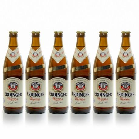 Pack de 6 bières Allemagne Erdinger Weissbier 6 x 50 cl