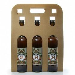 Pack de 3 bières Brassée 24 Liqueur de Noix Brasserie Artisanale de Sarlat 75 cl