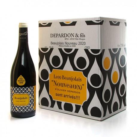Carton de 6 bouteilles de Domaine de la Bêche AOP Beaujolais Rouge Nouveau 2020 6x 75cl
