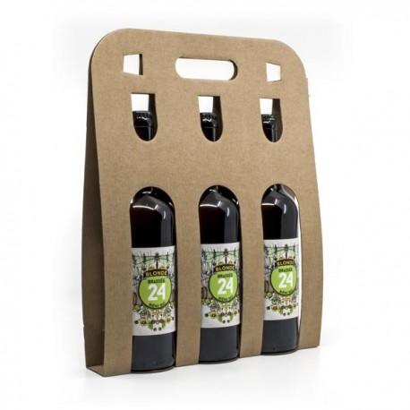 Pack de 3 Bières Brassée 24 Blondes Bio Brasserie Artisanale de Sarlat 75cl
