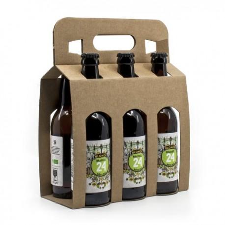 Pack de 6 Bières Brassée 24 Blondes Bio Brasserie Artisanale de Sarlat 33cl