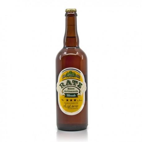 Bière blonde artisanale du Quercy Brasserie Ratz, 75cl
